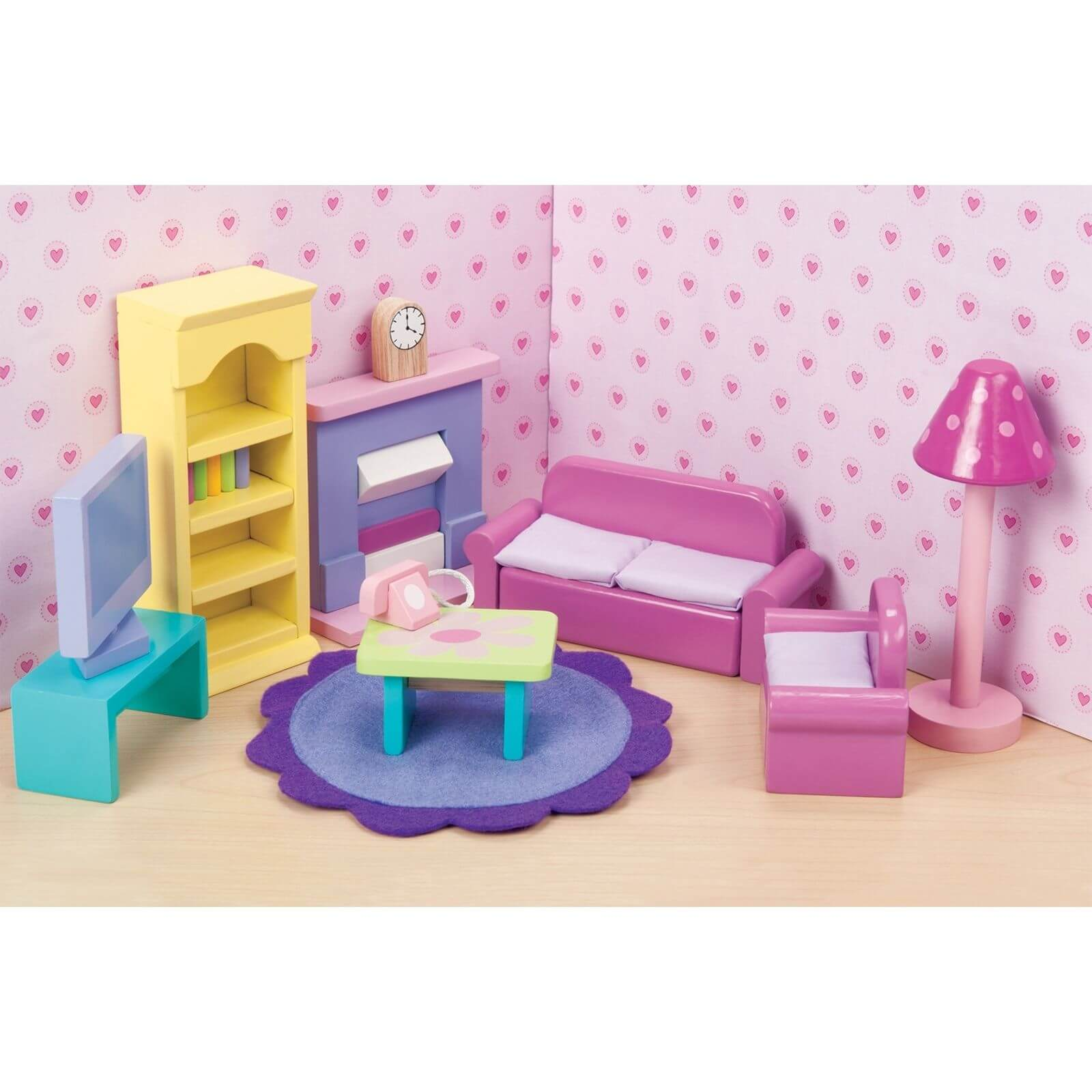 Le Toy Van Sugar Plum Sitting Room Wooden Dolls House Furniture