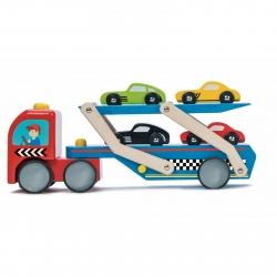 Le Toy Van Wooden Race Car Transporter Set