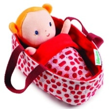Lilliputiens Baby Agathe in Carry Cot