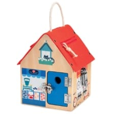 Lilliputiens Wooden House with Multi Locks
