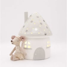 Little Belle Elfin House Nightlight Grey