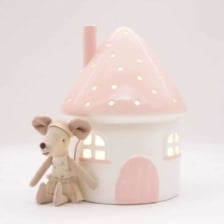 Little Belle Elfin House Nightlight Pink