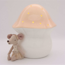 Little Belle Toadstool Nightlight Peach