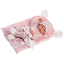 Llorens Baby Doll Nica with Pink Blanket with Ears 38cm