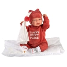 Llorens Baby Doll Tina with Cushion and Cloth 44cm