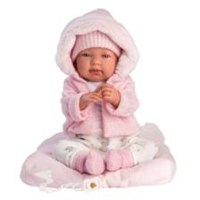 Llorens Baby Doll Tina with Pink Cushion
