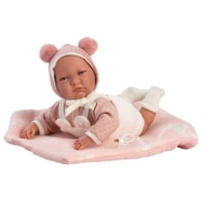 Llorens Crying Baby Doll Lala with Blanket 42cm