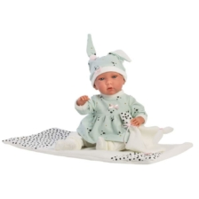 Llorens Crying Baby Doll Mimi with Blanket 42cm