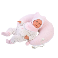 Llorens Crying Baby Doll Mimi with Pillow 42cm