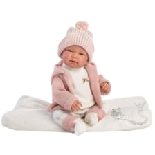Llorens Crying Baby Doll Tina with Blanket 44cm