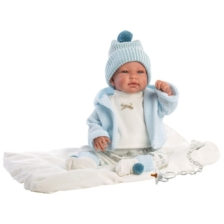 Llorens Crying Baby Doll Tino with Blanket 44cm