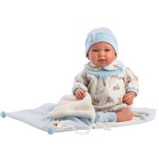 Llorens Crying Baby Doll Tino with Blanket 44cvm