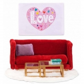 Lundby Smaland Red Sitting Room Scale 1:18