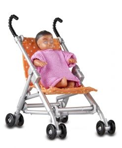 Lundby Smaland Stroller and Baby