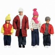 Lundby Smaland Winter Family Set Scale 1:18