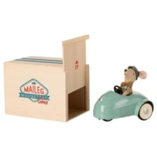 Maileg Mouse Car and Garage Blue