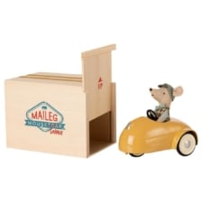 Maileg Mouse Car and Garage Yellow