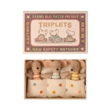 Maileg Triplets Baby Mice in Box
