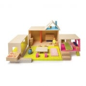 Manhattan Toy MIO Playing Eating Sleeping Modular Building Set with 2 People