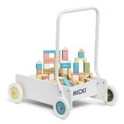 Micki Leksaker Baby Walker with 50 Blocks Pastel