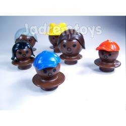 Mobilo Figures Mixed Dark Brown