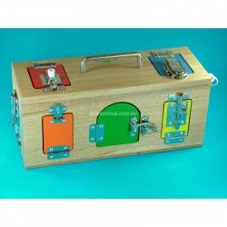 Montessori Wooden Lock Box