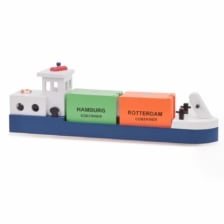 New Classic Toys Barge with 2 Containers
