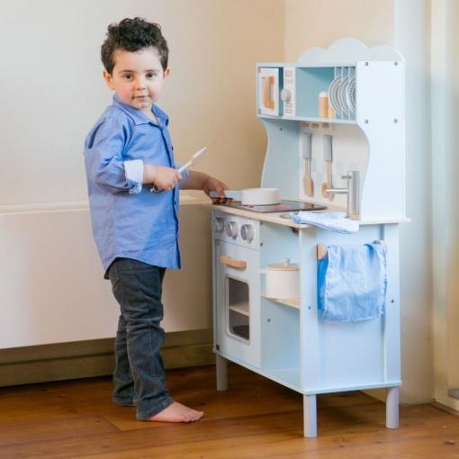 New Classic Toys Kitchenette Modern Blue