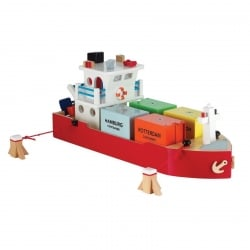 New Classic Toys Wooden Container Ship