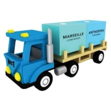 New Classic Toys Wooden Container Truck