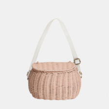 Olli Ella Mini Chari Basket Rose