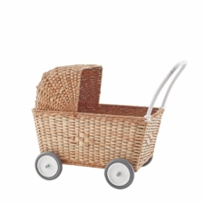 Olli Ella Strolley Dolls Pram Natural