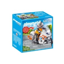 Playmobil City Life Emergency Motorbike