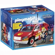 Playmobil Fire Chief's Car with Lights and Sound