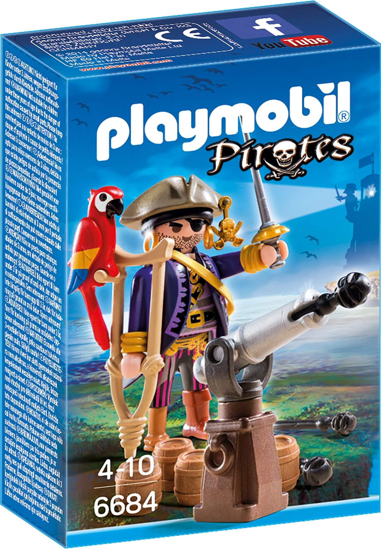 Playmobil pirate captain jadrem toys for Playmobil post
