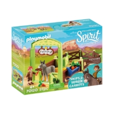 Playmobil Spirit Horse Stall with Snips and Senor Carrots