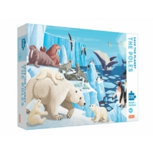 Sassi Save The Planet Poles 220 Piece Puzzle and Book