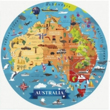 Learn and Explore Puzzle and Book Set Australia 210 Pieces