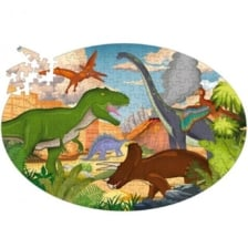 Learn and Explore Puzzle and Book Set Dinosaurs 205 Pieces