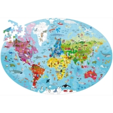 Learn and Explore Puzzle and Book Set The Earth 205 Pieces
