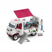 Schleich Mobile Vet and Accessories with Hanoverian Foal