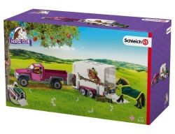 Schleich Pick Up Truck with Horse Box Trailer Horse Club
