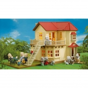 Sylvanian Families Beechwood Hall with Furniture and Chocolate Rabbit Family