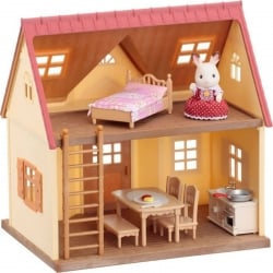 Sylvanian Families Cosy Cottage Starter Home with Furniture and Rabbit