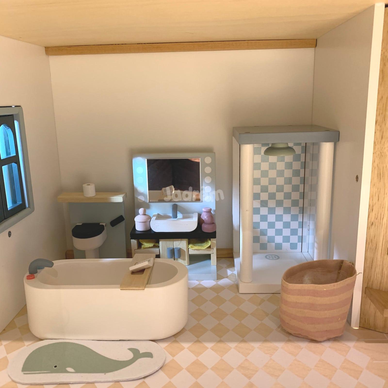Tender Leaf Dovetail Bathroom Set Dollhouse Furniture - Jadrem Toys