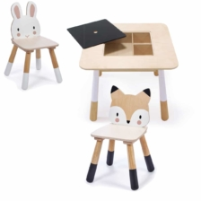 Tender Leaf Toys Forest Wooden Table Rabbit and Fox Chairs