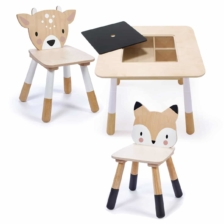 Tender Leaf Toys Wooden Table with Fox and Deer Chair
