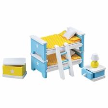 Tidlo Wooden Dolls House Children's Bedroom Furniture