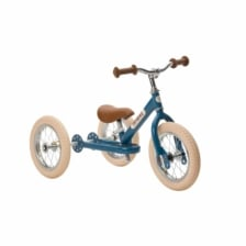 Trybike Steel 2 in 1 Balance Bike Blue Vintage