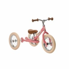 Trybike Steel 2 in 1 Balance Bike Pink Vintage